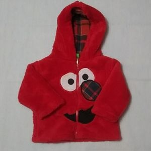 Sesame Street kid's size 12M Red winter Jacket